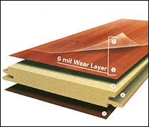 top laminate wear coating